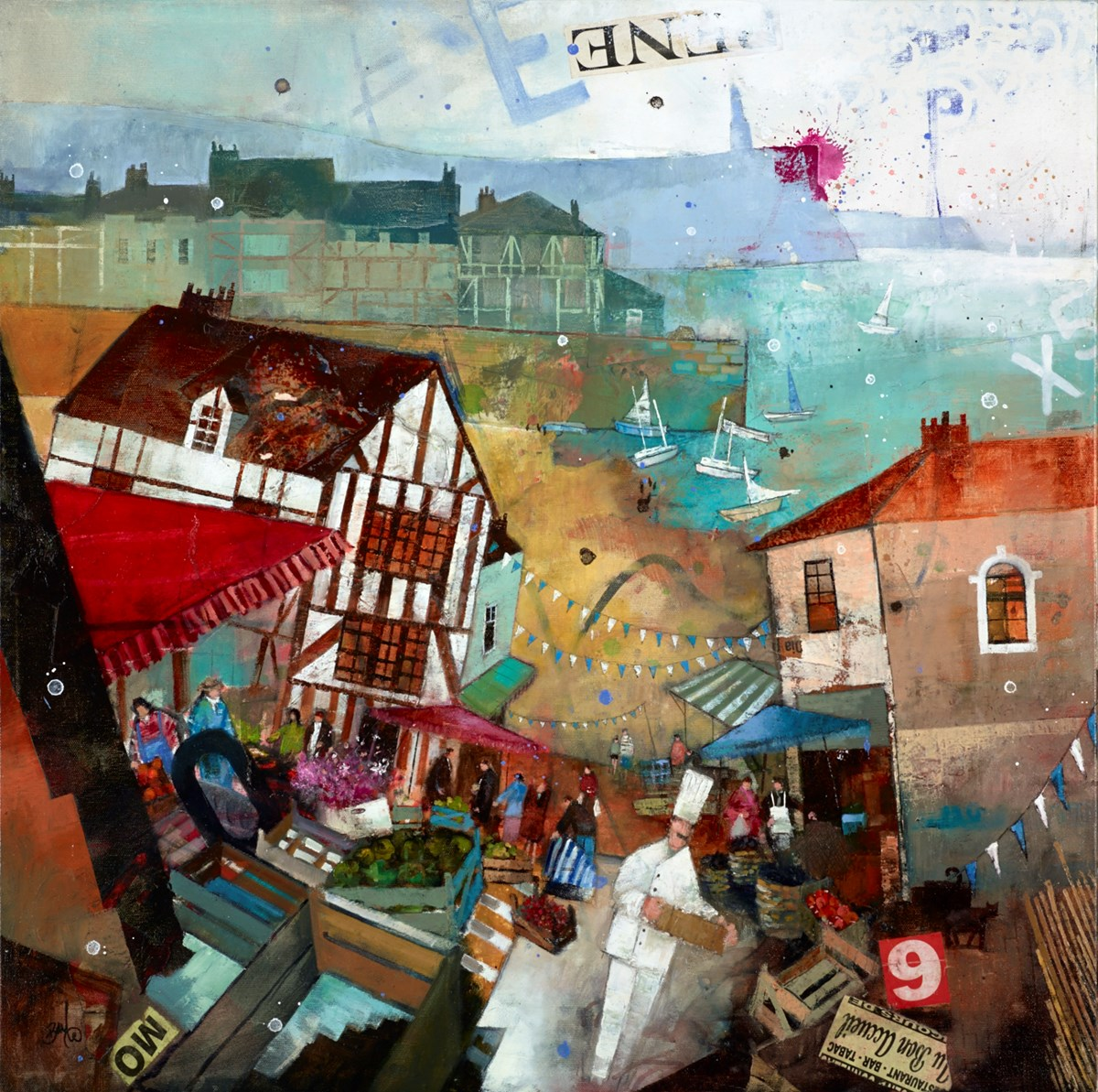 Au Bon Accueil by richard burel -  sized 32x32 inches. Available from Whitewall Galleries